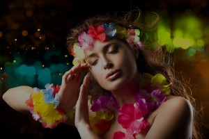 Luau Party Girl. Exotic Hula Dancer